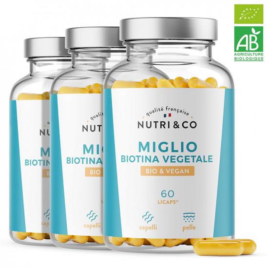 Pack di 3 Miglio & Biotina